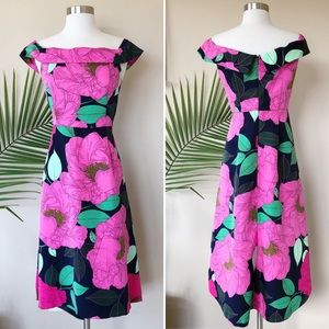 New York & Company Floral High Low Dress